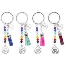 Key-Chain Keyring Lotus-Tassel Lanyards Pendant Car-Supplies Beads Mobile-Phone-Strap