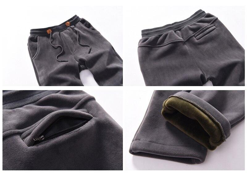 Hoodie Men Set Sports Suit M 4XL Winter Gold Velvet 3 Pieces Sets Tracksuit Men's Plus Size XXXXL Vest + Pants + Sweatshirt - 5