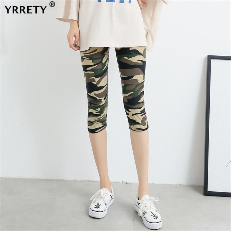 YRRETY Workout Legging Fitness Pants Women Leggings Camouflage Womens Workout Legging High Waist Gym Sporting Plus Size Capris