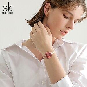Image 4 - Shengke Women Watches Women Fashion Watch Geneva Designer Ladies Watch Luxury Brand Diamond Quartz Wrist Watch Gifts For Women