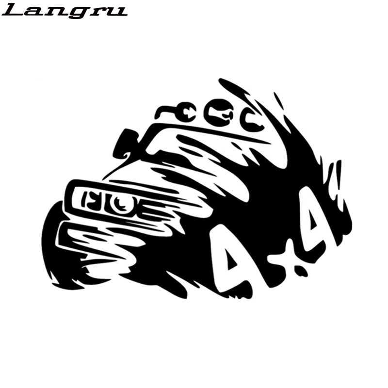Langru 16*11.3cm araba Sticker 4x4 dekoratif kapalı yol oto araba çıkartmaları vinil çıkartmaları aksesuarları Jdm