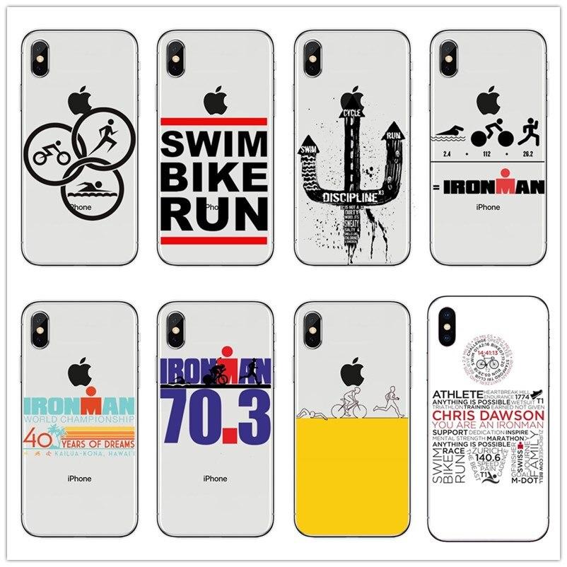Ironman Triathlon Logo Silicone TPU Soft phone case For iPhone5s ...