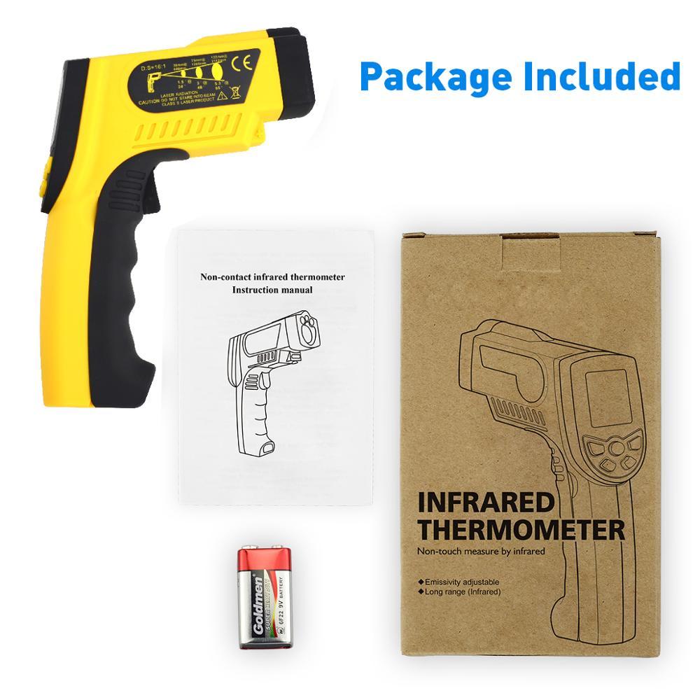 Image 5 - HoldPeak HP 1300 цифровой лазерный инфракрасный термометр 50C ~  1300 ℃ температурный пистолет Termometro Pistola тестерholdpeak  hp-1300infrared thermometerdigital infrared thermometer -