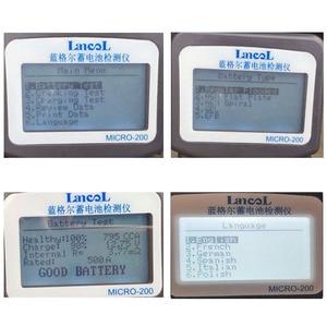Image 2 - Multi language version MICRO 200 Automotivo Battery Digital CCA Battery Analyzer Vehicle Car Battery Tester 12V Diagnostic Tool
