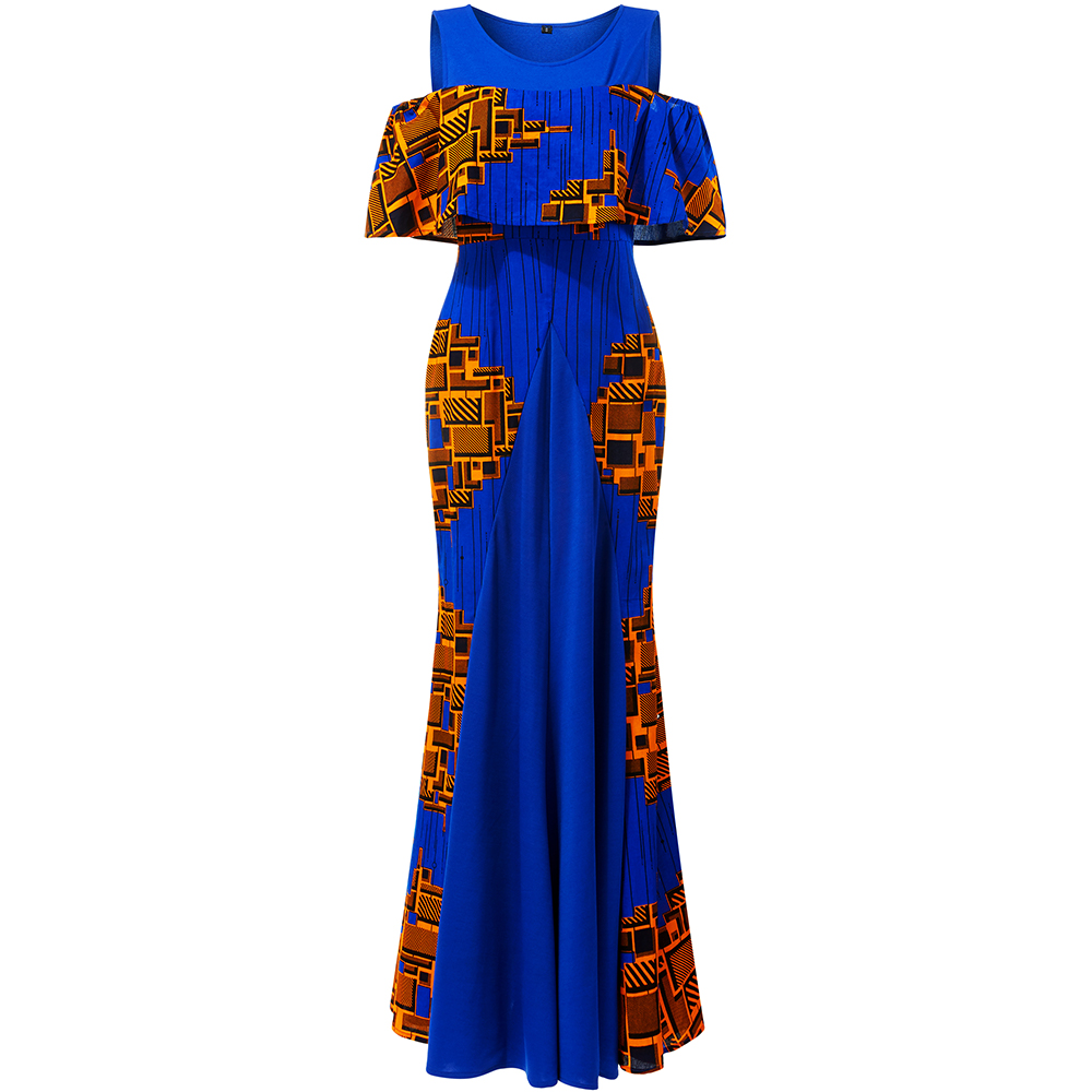 Shenbolen African Dresses For Women Long Party Wedding Dresses African Dress Ankara Print Clothes African  Traditional Clothing