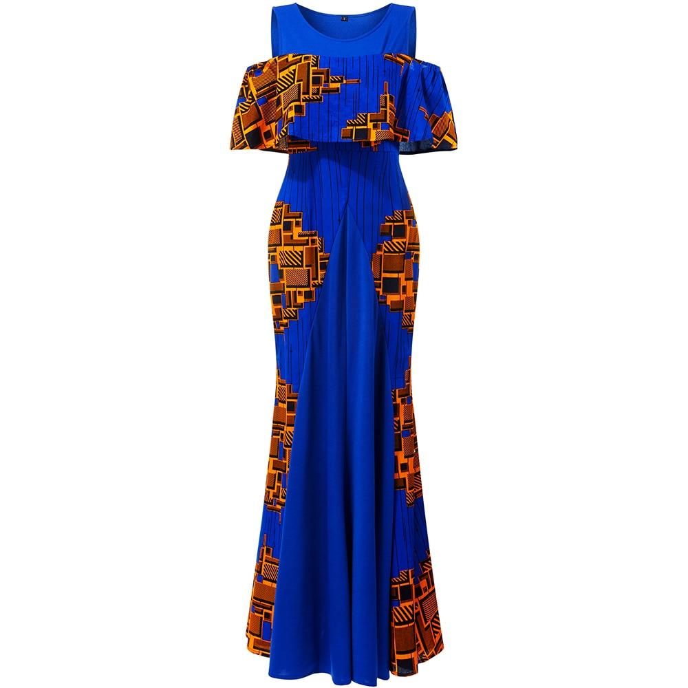Shenbolen African Dresses For Women Long Party Wedding Dresses African Dress Ankara Print Clothes African  Traditional Clothing