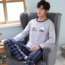 Pajamas Man Spring Cartoon Leisure Time Loose Pure Cotton Long Sleeve Trousers Winter Teenagers Routine Home Furnishing Homewear