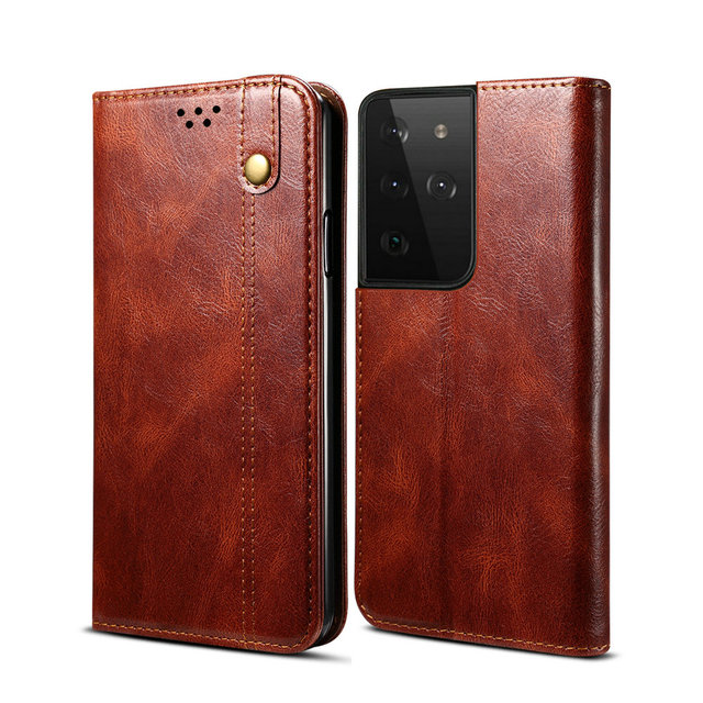 Leather Texture Magnet Book Cover for Samsung S21 FE 5G Case 360 Protect for Samsung Galaxy S21 Ultra Case S 21 Plus S21FE Coque