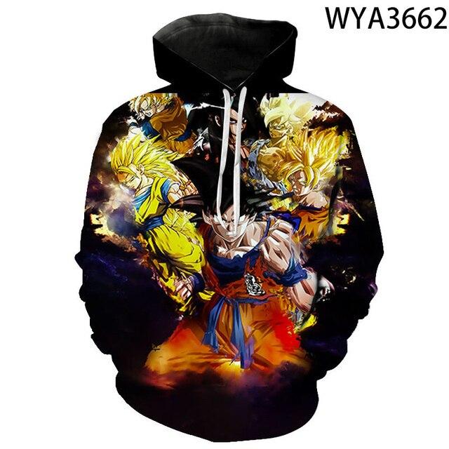 Men Women Children Fashion Hoodies Comics Goku 3D Printed Sweatshirts Pullover Long Sleeve Boy Girl Kids Streetwear Coat 4