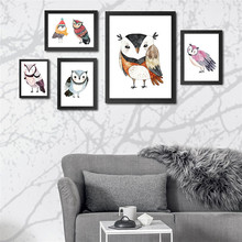 New Nordic owl mural children's room small fresh animal hanging painting decorative painting painting core relief three dimensional decorative painting mural hanging painting decorative painting room decoration painting core