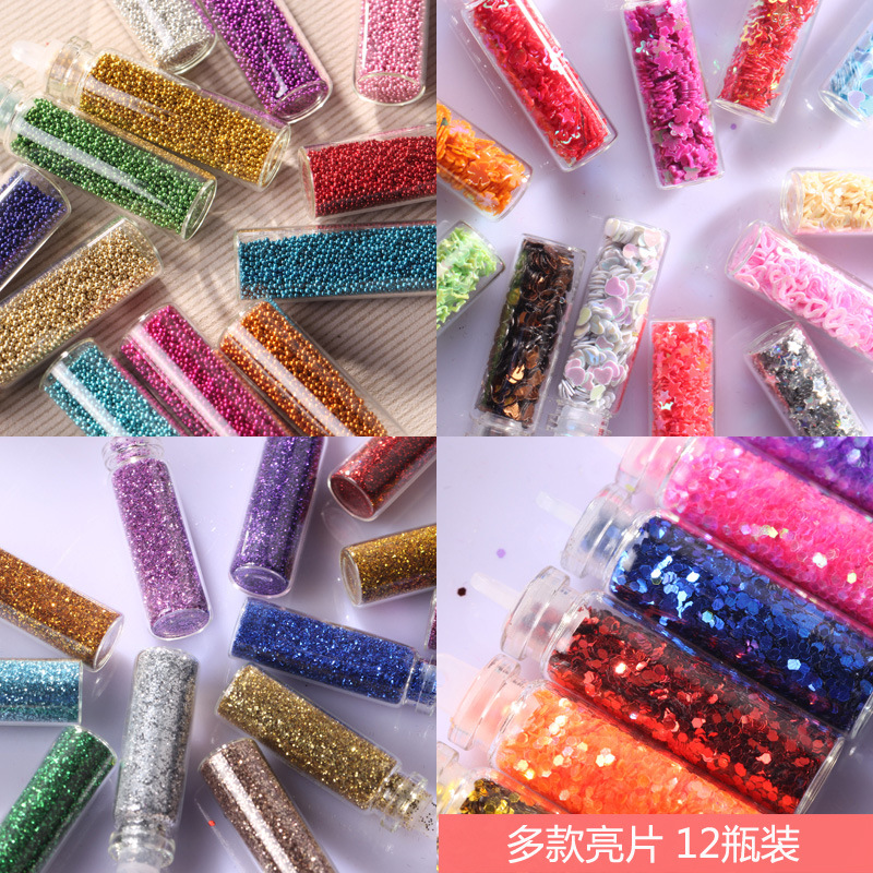 Best Nail Glitter Shiny Matte Shell Colorful Nail Art Pigment Dust Powder Manicure Nail Decorations  Wholesale