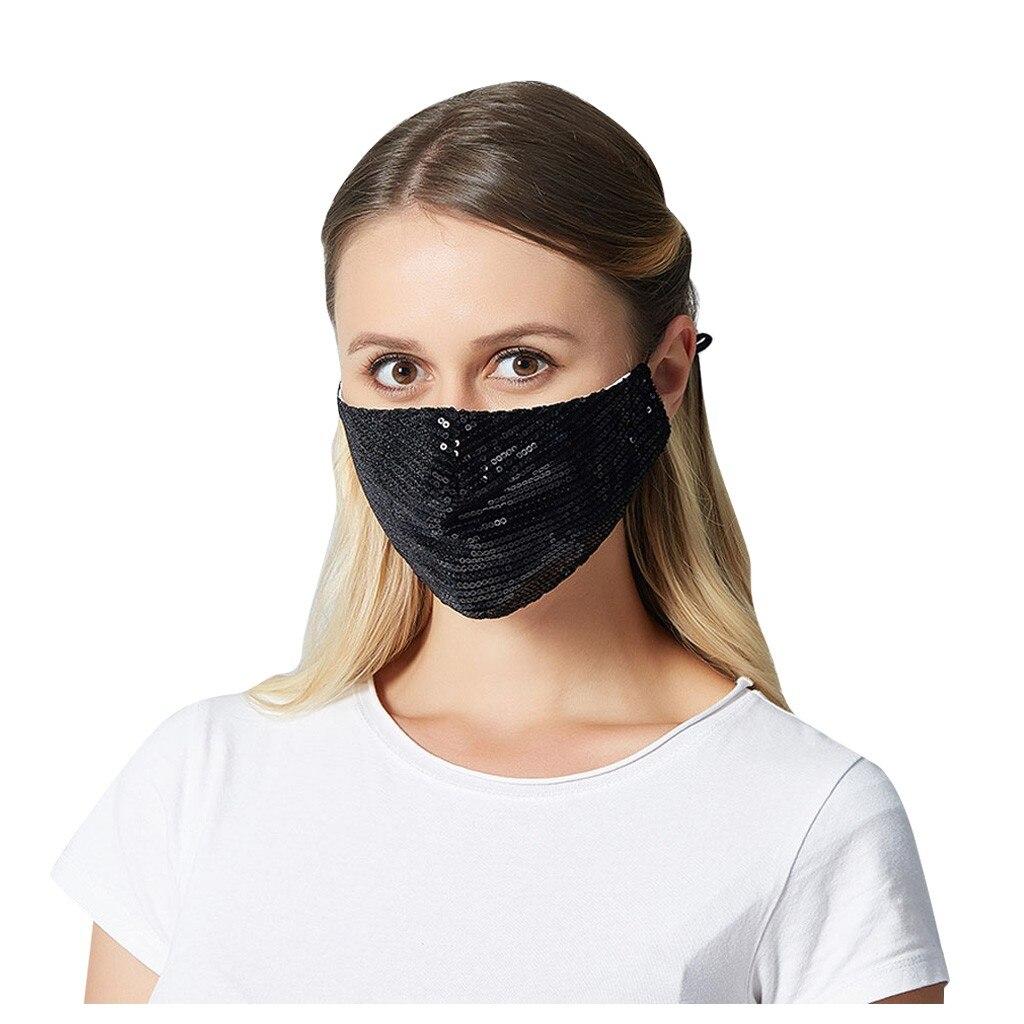 Unisex Creative Sequin Masks Dustproof Anti-Fog Masks Breathable  Mask Washable Protective Respirator Mascarillas Masque