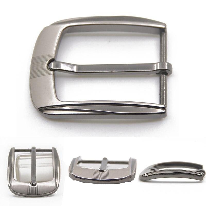 35mm Metal Pin Buckle Men Fashion Waistband Buckles Belt DIY Leather Craft Buckle Single Pin Belt Half Buckles Belt Buckle