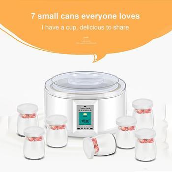 1.5L 220V Yogurt Maker with 7 Glass Ferment Jars Automatic Yogurt Machine Household DIY Automatic Yogurt Tools Kitchen Appliance 1