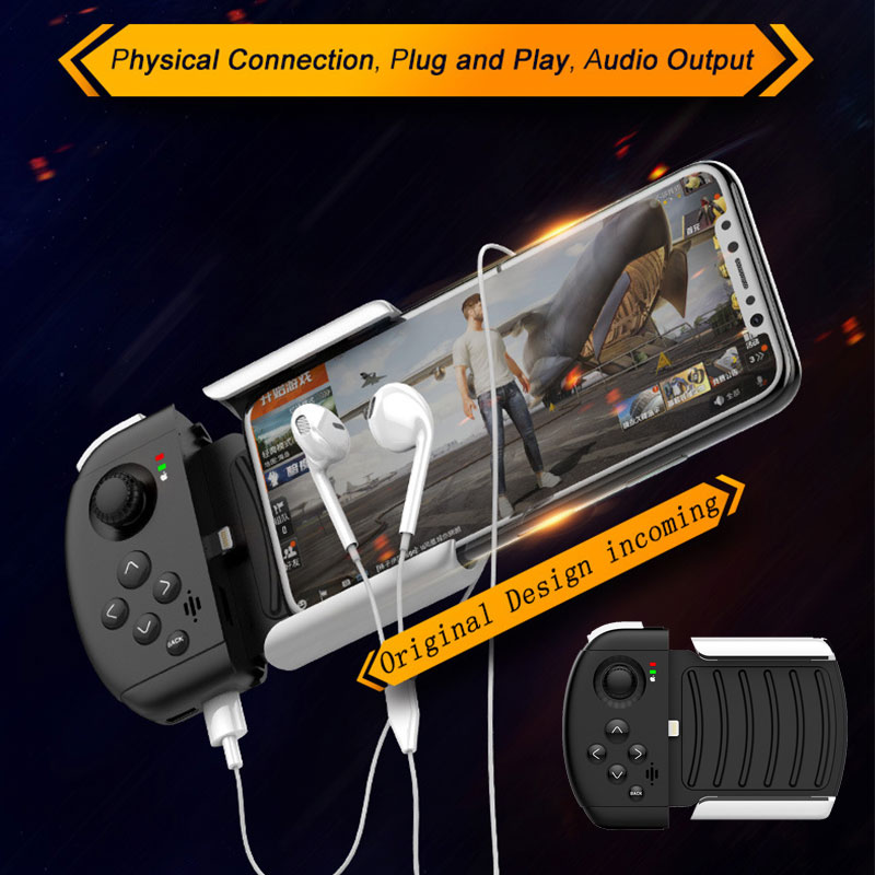 PUBG Gaming Controller For IOS Iphone Mobile Joypad No Bluetooth Required Telescopic Game Joystick One-Handed Gamepad