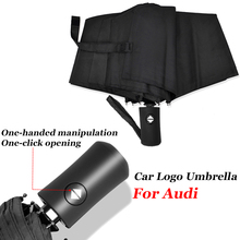 Umbrella Car-Logo Audi Fully-Automatic for A1 A3 A4 B5 B6 B7 B8 A5 A6 C5 C6 C7 8v-8p