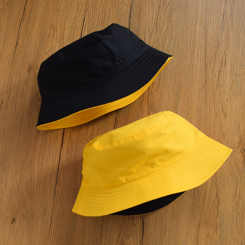 Unisex Casual Solid Color Double Sided Bucket Hat Men Womens Bob Hip Hop Panama Summer Daisy Lady Fisherman Hat Outdoor Sun Caps