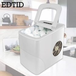 Máquina eléctrica automática de hielo 15 kg/24 H comercial Milktea cafetería Bar Mini Bullet bloque redondo máquina de hacer cubitos de hielo enchufe de la UE