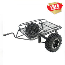 1/10 remote control model RC crawler car modified simulation metal trailer bucket for Tra axial D90 SCX10 trx4  option parts 1 10 rc crawler accessory parts fire extinguisher model for axial scx10 trx4