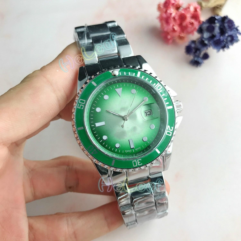 Men's Business Watch Wearable Luminous Watches Fashion Luxury Brand Wristwatch Silver Gold Full Steel Quartz Watch Female Clock