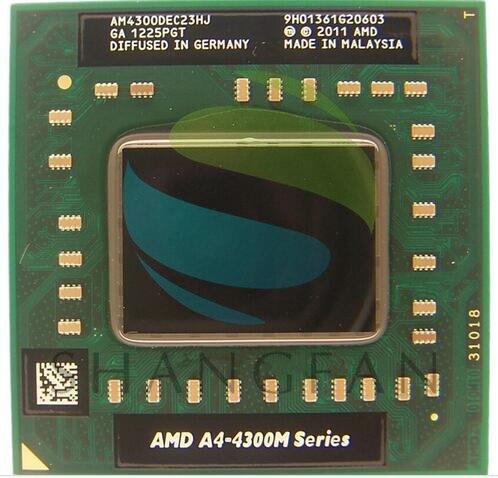 AMD A4-Series A4-4300M 2.5Ghz Socket FS1 A4 4300M AM4300DEC23HJ Laptop Notebook CPU Processor