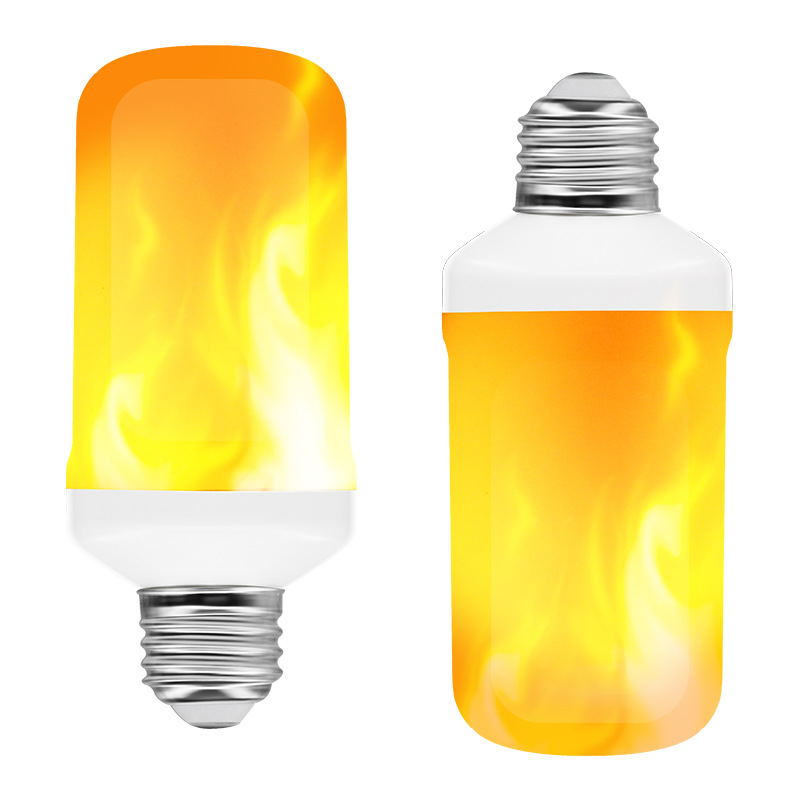 FDIK LED Dynamic Flame Effect Light Bulb Multiple Mode Creative Corn Lamp Decorative Lights For Bar Hotel Restaurant Party E27