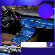 Lsrtw2017 TPU Car Interior Film Central gear panel Control Dashboard Protective Sticker for Audi A6 A7 c7 c8 2018 2019 2020 s6