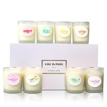 8PCS/Set Aromatherapy Candle Cup Environmentally Friendly Plant Essential Oil Soy Wax Smokeless Candles
