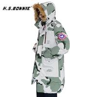 2019 Camouflage Parka Men Coats Winter Jacket Men Thicken Fur Hooded Outwear Warm Coat Casual Long Mens Coat Plus Size 8XL