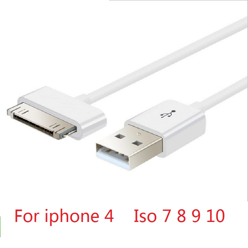 90cm 30pin USB Data Cable For Apple Data Sync 30pin USB Cable For IPhone 4 4S Ipad 1 2 3 Itouch4 Charging Cable
