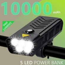 3000lumens 10000mah 5 * t6 luz da bicicleta usb recarregável 3 l2 display digital luz da bicicleta frente ciclismo mtb farol como banco de potência