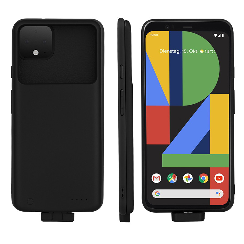5000Mah Pixel 4 XL Slim Shockproof Battery Charger Case For Google Pixel 4 XL Extended Power Bank Case Back Clip Battery Cover