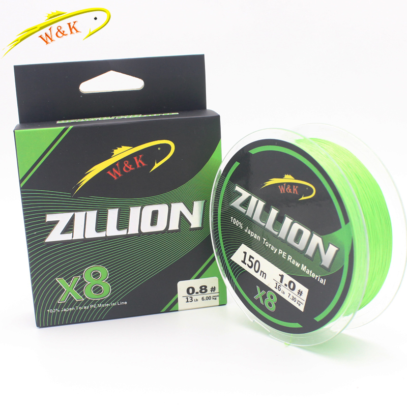 X8 Braided PE Lines at 150m Fishing Line Double Color Super Powered Braided Line Fishing Lines image