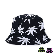 Fashion hats Original sufeng fisherman cap men and women cotton graffiti colored maple leaf basin street sun protection
