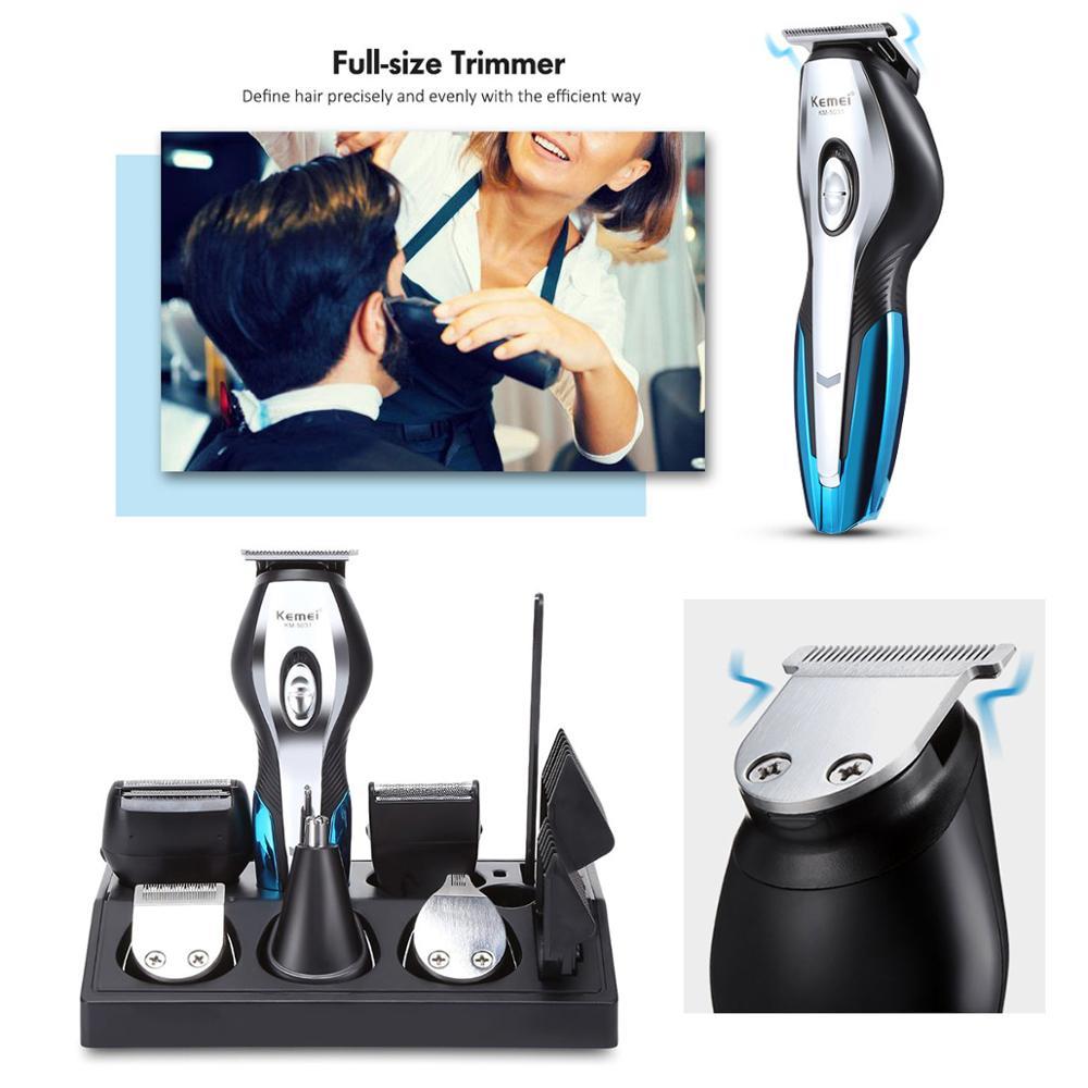 Kemei Cordless Hair Clipper men beard trimmer electric trimer shaver nose hair trimmer machine cut hair cutting machine 5 4