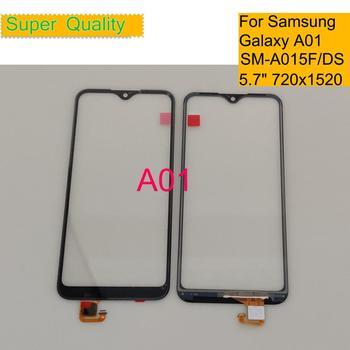 10 шт./лот, для Samsung Galaxy A01 2019, сенсорный экран, дигитайзер, панель, сенсорный экран A01 A015, внешнее стекло для Samsung Galaxy A01, A01, DS, SM-A015F, DS