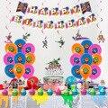 1 комплект Splatoon вечерние принадлежности съемки игра воздушные шары с днем баннеры для дня рождения Splatoon торт фигурки жениха и невесты; Декор...