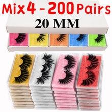 MB 20MM Eyelashes Wholesale 5D Mink Lashes Natural False Eye lashes soft Set faux cils Bulk Makeup False lashes in bulk makeup