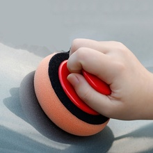Tampon de polissage pour cire de lavage de voiture, 4 pouces/100MM, éponge, chiffon de nettoyage, tampons applicateurs en microfibre