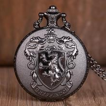 Chain-Pendant-Accessory Necklace Pocket-Watch Steampunk Antique Movie Black Theme Gift