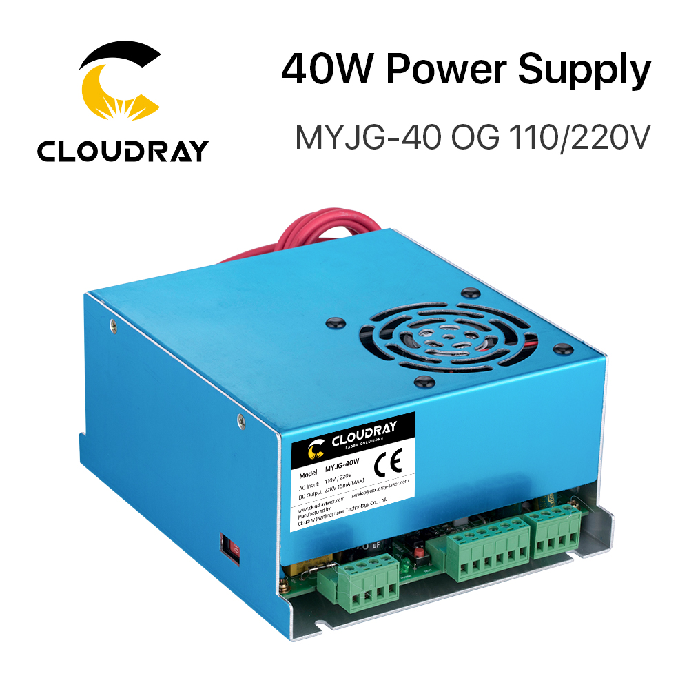 Cloudray 40W CO2 Laser Power Supply MYJG 40WT 110V / 220V for Laser Tube Engraving Cutting Machine Model A
