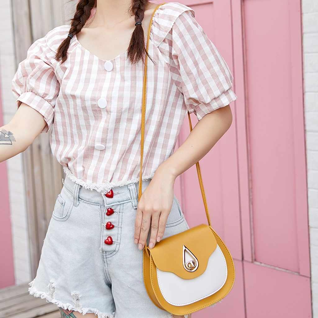 Kontras Warna Kecil Tas Selempang untuk Wanita 2019 Fashion Cover Huruf Kecil Bahu Ponsel Messenger Tas Dompet Bolso Mujer