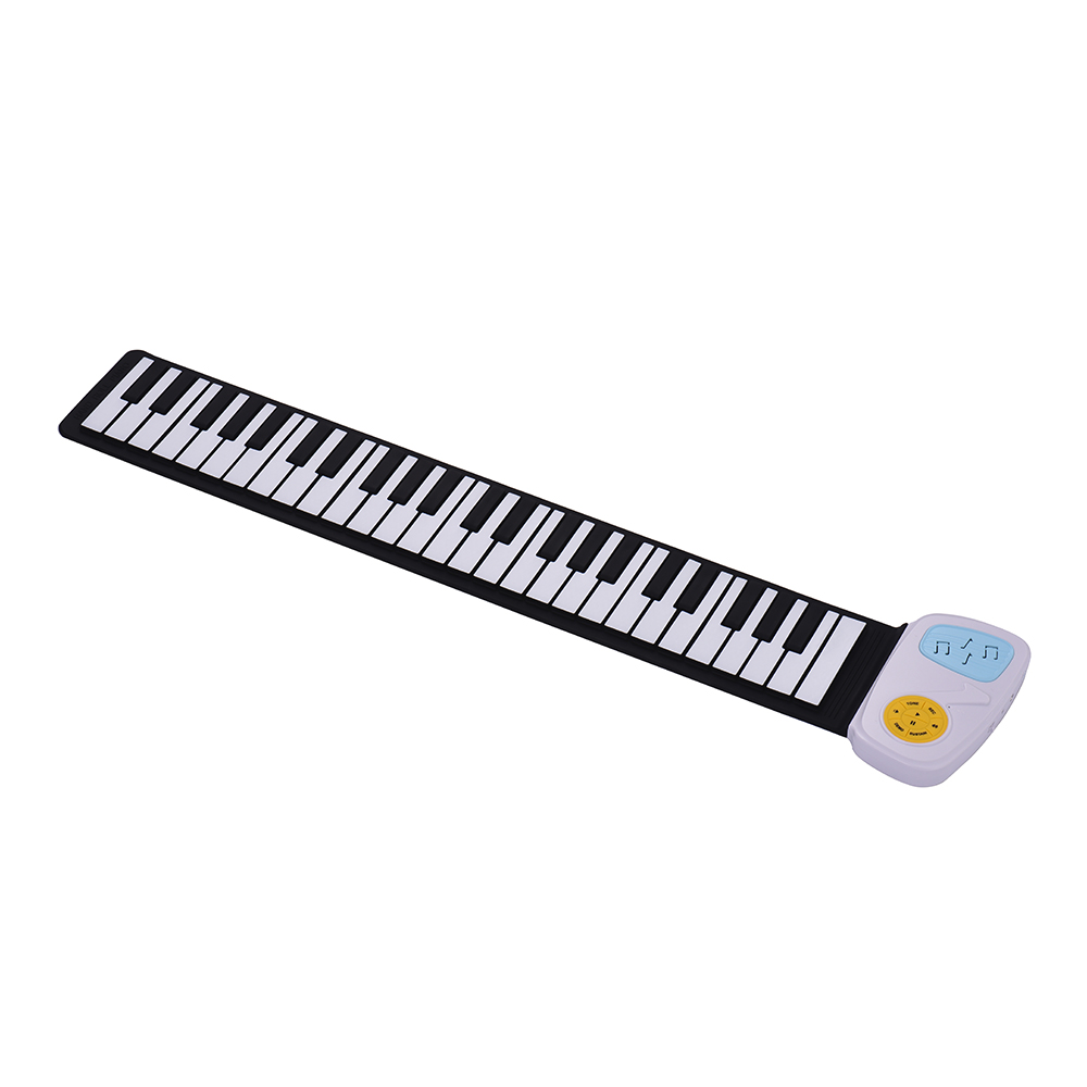 Portátil 49-chave silicone teclado eletrônico rolling-up piano