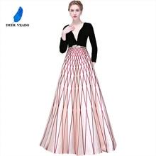 DEERVEADO Новое поступление Элегантное длинное вечернее платье для женщин вечерние платья Robe De Soiree YS426