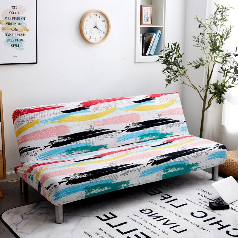 Simple Modern Printing Sofa Bed Cover Tight All-inclusive Couch Case Sofa Length Without Armrest Between 165cm To 185cm