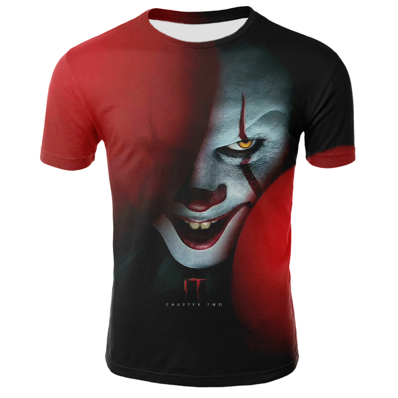 Horror Movie IT: Chapter 2 3D Printed T-Shirts Men And Women Summer IT Clown Horror Movie Casual T-shirt Top Short Sleeve