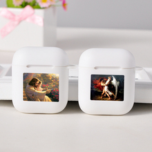 Cartoon funny white Cases For Apple AirPods Art Wireless Bluetooth Earphone For Apple Airpods 1 2 Protection Cover Cases