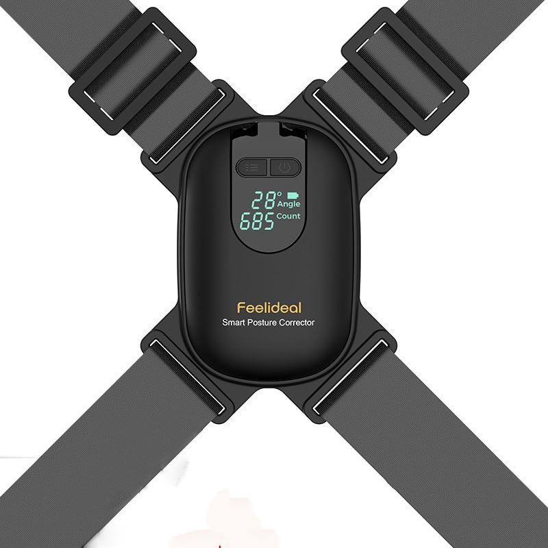 Регулируемый умный Корректор осанки Anglel для взрослых и детей, Корректор осанки, поддержка ключиц, поддержка верхней части спины, черный бан...