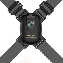 Ajustável anglel smart posture corrector para adultos crianças corrigir corcunda clavícula suporte treinador superior cinta traseira preto