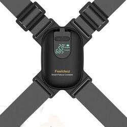 Adjustable Anglel Smart Posture Corrector For Adults Children Correct Hunchback Clavicle Support Trainer Upper Back Brace Black